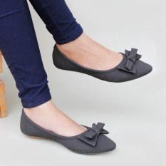 Gratica Sepatu Flat Shoes KH28 - Hitam