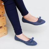 Gratica Sepatu Flat Shoes Laser Am49 Navy Murah