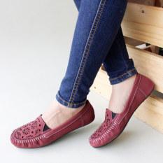 Review Toko Gratica Sepatu Flat Shoes Laser Ud23 Maroon Online