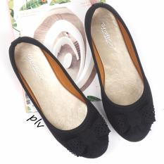 Pluvia - Gratica Sepatu Flat Shoes Balet Wanita MI01 - Hitam
