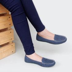 Beli Gratica Sepatu Flat Shoes Rj55 Navy Murah Jawa Barat
