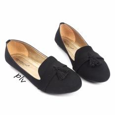 Gratica Sepatu Flat Shoes Tassel UD39 - Hitam