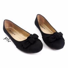 Gratica Sepatu Flat Shoes Twisted Bow AM57 - Hitam