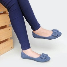 Pluvia - Gratica Sepatu Flat Shoes Wanita UD34 - Navy