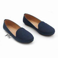 Pluvia - Gratica Sepatu Flat Shoes Loafers Wanita UB12 - Navy