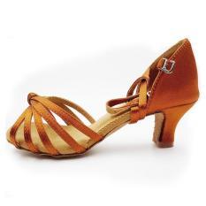 Toko Great Discounts Coupons Promotion Price Popuplar High Quality Latin Dance Shoes For Women Ladies Girls Tango Salsa 5Cm Brown Intl Termurah Tiongkok