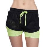 Review Hijau Perempuan Yoga Pants Bang Pendek Lari Olahraga Jogging Olahraga Latihan Kebugaran Wanita Pants Bang Pendek Terbaru
