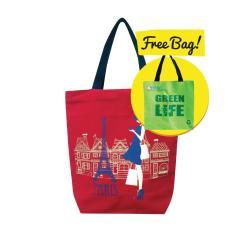 Ulasan Tentang Green3R Canvas Tote Bag C213 Free Tas Belanja