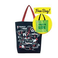 Green3R Canvas Tote Bag C304- Free Tas Belanja