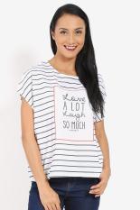Greenlight  Women Clothing Tops T-Shirts  Wanita Busana Atasan T-Shirts White putih Diskon discount murah bazaar baju celana fashion brand branded