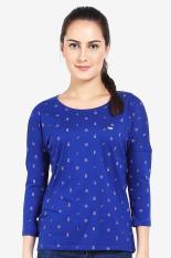 Greenlight  Women Clothing Tops T-Shirts  Wanita Busana Atasan T-Shirts Blue Biru Diskon discount m
