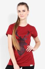 Greenlight Ladies Tshirt Red Diskon discount murah bazaar baju celana fashion brand branded