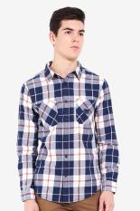 Greenlight  Men Clothing Shirts Formal Shirts  Pria Pakaian Shirts Shirts Formal Blue Biru Diskon d