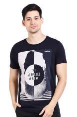 Greenlight Pakaian Atasan Kasual Kaos T-Shirt Pria Men Tshirt Blue Diskon discount murah bazaar baj