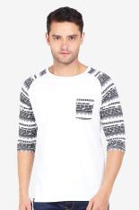 Greenlight Pakaian Atasan Kasual Kaos T-Shirt Pria Men Tshirt White Diskon discount murah bazaar ba