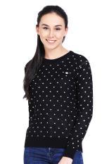 Greenlight Pakaian Hoodie & Sweatshirt Wanita Ladies Knit Black Diskon discount murah bazaar baju c