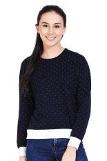 Greenlight Pakaian Hoodie & Sweatshirt Wanita Ladies Knit Blue Diskon discount murah bazaar baju celana fashion brand branded