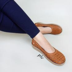 Harga Grivera Sepatu Wanita Flat Shoes Laser My61 Tan Original
