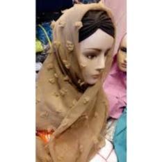 Griyaazza - Jilbab Rubiah Rubia Ruby Rubi Segi Empat Polos Saudia - Coklat Susu