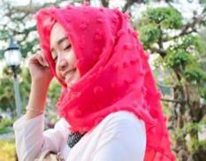 Griyaazza - Jilbab Rubiah Ruby Rubi Segi Empat Saudia Polos - Merah Fanta