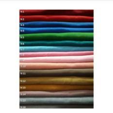 Griyaazza - Jilbab Segi Empat Polos Motif Terbaru Bolak Balik Casual Simple Cantik Modern - Biru