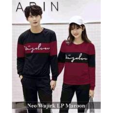 Grosir Baju Couple - Baju Couple Online - Baju Couple Neo Wajirk Lp Maroon