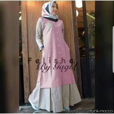 grosir baju-felisha maxi-pinkmocca