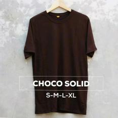 Grosir baju murah / Kaos Polos Combed 30s Cokelat