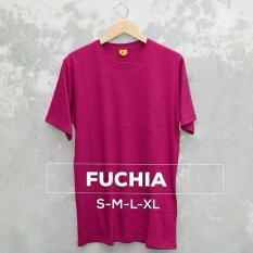 Grosir baju murah / Kaos Polos Combed 30s Fuschia