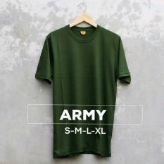 Grosir baju murah / Kaos Polos Combed 30s Hijau army