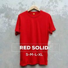 Grosir baju murah / Kaos Polos Combed 30s Merah