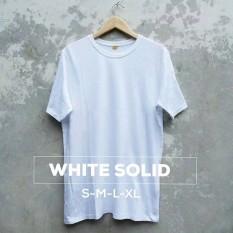 Grosir baju murah / Kaos Polos Combed 30s Putih