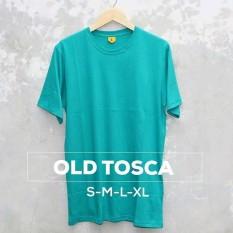 Grosir baju murah / Kaos Polos Combed 30s Tosca tua