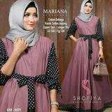Spesifikasi Grosir Busana Baju Muslim Termurah Mariana Polka Dusty Lengkap