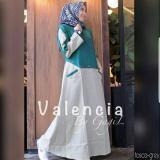 Toko Grosir Busana Baju Muslim Termurah Valencia Dress Tosca Indonesia
