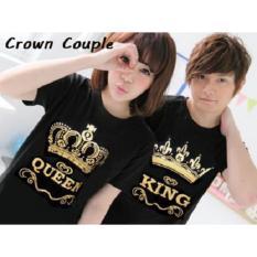BajuCouple - Baju Pasangan Murah - Kaos Couple Crown [Hitam]