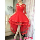 Grosir Dress 9267 Red Gsd Diskon