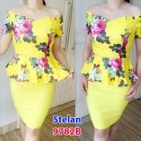 Beli Gsd Setalan Mini Dress Flow Impor 9782B Yellow Nyicil