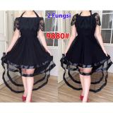 Diskon Grosir Dress Dress 9880 Black