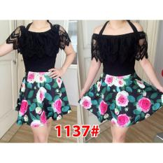 Jual Grosir Dress Mini Dress 1137 Hitam