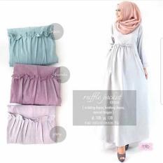 Harga Grosir Dress Murah Gamis Fashion Muslim Ruffle Dress Branded