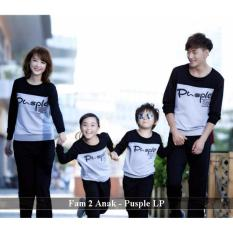 Grosir family couple - family couple online- Baju Keluarga 2 Anak - Pusple LP