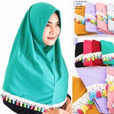 Grosir Hijab Instan Najwa 3pcs - Najwa Tassel Renda - Jilbab Instan - Jilbab Renda