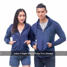 Grosir Jaket   Couple - Sweater Couple Online - Jaket Couple Polos Navi Dongker Fleece