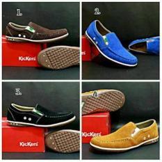 Grosir Sepatu Casual Lebaran Kickers Slop Kulit Navy Blue