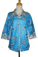 Grosir Yogya Blus Batik Bolero Jumbo - BBJ1901-Biru Muda