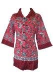 Harga Grosir Yogya Blus Batik Kerja Etnik 2 Bls1202 2 Merah Asli