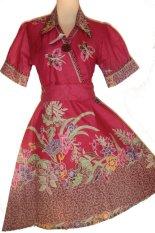 Grosir Yogya Dress Batik Artha Ayu - DRS3040-Merah