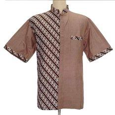 Grosiryogya Hem Batik Koko Motif Parang 7 - Hp5069 -Coklat