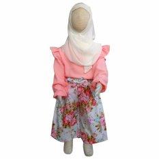 Grow Baju dan Celana Setelan Muslimah Anak Kulot Pastel ( Grow Children's Clothes Suit Kulot ) Pastel